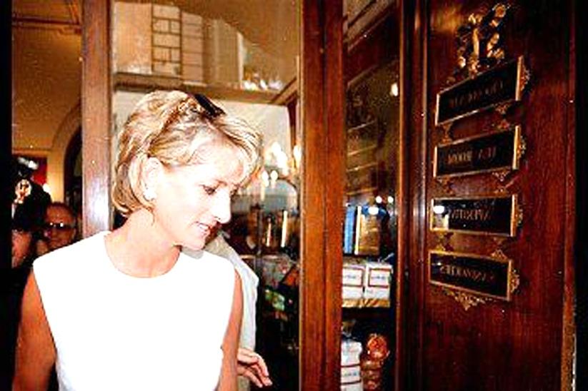 Lady Diana all'Antico Caffè Greco